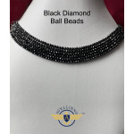 Black Diamond Ball Beads Length 15.5* Inch | Black Beads Necklace