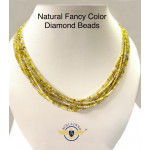 Natural Fancy Color Diamond Beads 1 Strand Approx 20 Carat | Yellow Beads